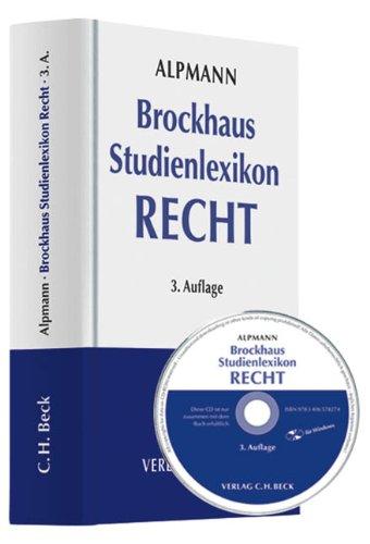 9783406578274: Brockhaus Studienlexikon Recht Buch und CD-ROM