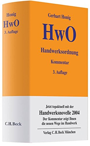 Handwerksordnung: Gerhart Honig