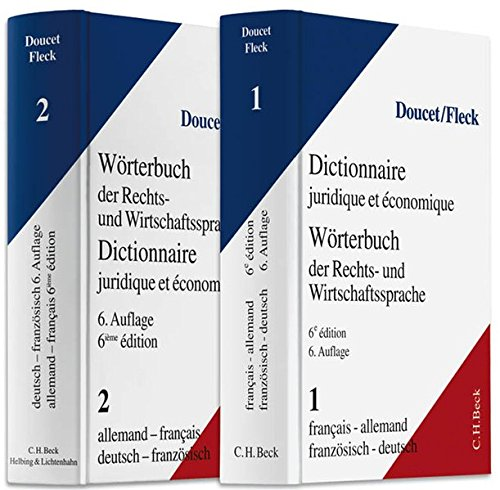 9783406582714: Wörterbuch der Rechts- und Wirtschaftssprache 1 und 2 und CD: Deutsch - Französisch / Französisch - Deutsch