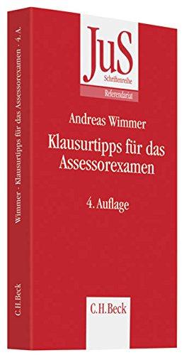 9783406582950: Klausurtipps f�r das Assessorexamen: Rechtsstand: 1.9.2009