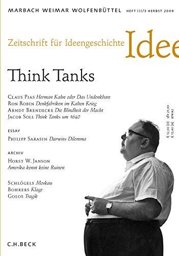Zeitschrift für Ideengeschichte, Jg.2009/3 : Think Tanks: Dickson, Paul