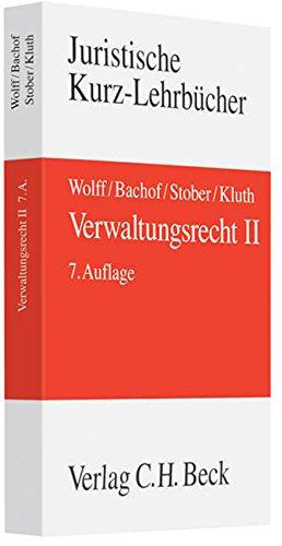 Verwaltungsrecht 2: Hans J. Wolff