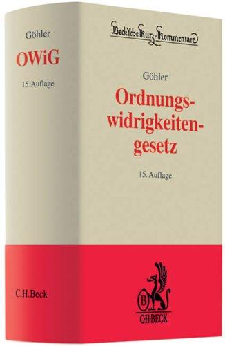 9783406584909: Ordnungswidrigkeitengesetz - OWiG