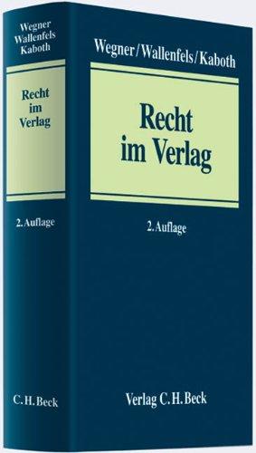 Recht im Verlag: Konstantin Wegner