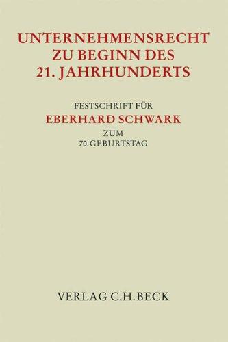 Unternehmensrecht zu Beginn des 21. Jahrhunderts: Stefan Grundmann