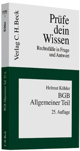 9783406589522: BGB Allgemeiner Teil: Rechtsf�lle in Frage und Antwort