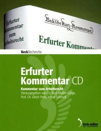 9783406593710: Erfurter Kommentar zum Arbeitsrecht: Kommentar-CD und Buch. die Jubiläumsausgabe zur 10. Auflage mit geändertem Datenschutz, Urlaubsrecht, AEntG und neuem GendiagnostikG