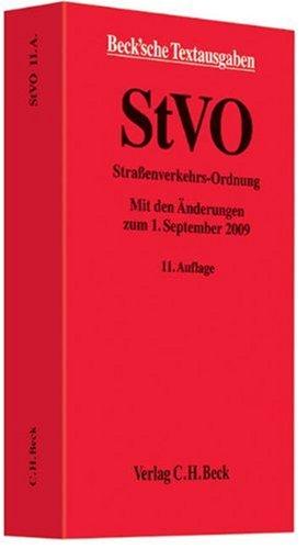 9783406594205: Stra�enverkehrs-Ordnung: Rechtsstand 01.09.2009