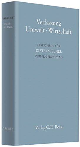 Verfassung - Umwelt - Wirtschaft: Klaus-Peter Dolde