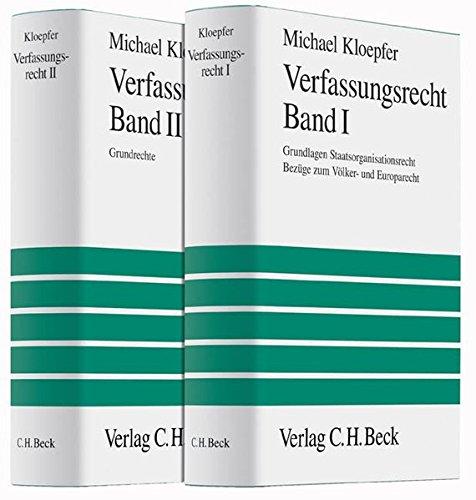 Verfassungsrecht 1 - Verfassungsrecht 2. 2 Bände: Michael Kloepfer