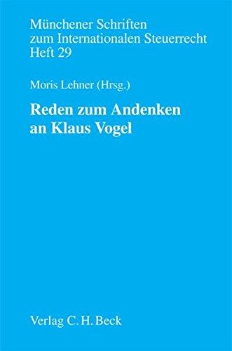 Reden zum Andenken an Klaus Vogel: Moris Lehner