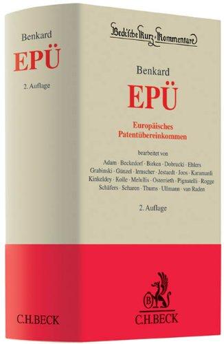 Europäisches Patentübereinkommen: Jochen Ehlers