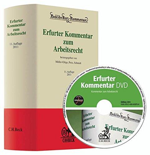 9783406608759: Erfurter Kommentar zum Arbeitsrecht: Rechtsstand: 1. September 2010