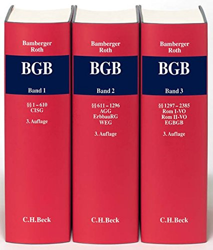Kommentar zum Bürgerlichen Gesetzbuch (BGB), 3 Bde.: Heinz G. Bamberger