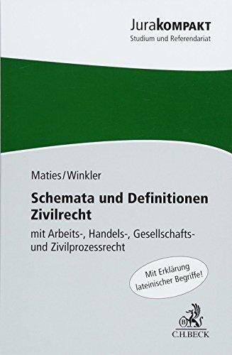 9783406614866: Schemata und Definitionen Zivilrecht