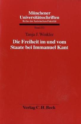9783406616150: Die Freiheit im und vom Staate bei Immanuel Kant