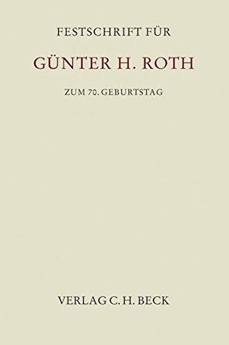 9783406617867: Festschrift für Günther H. Roth zum 70. Geburtstag