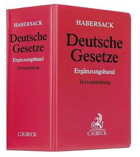 9783406618000: Deutsche Gesetze Ergänzungsband (ohne Fortsetzungsnotierung). Inkl. 49. Ergänzungslieferung