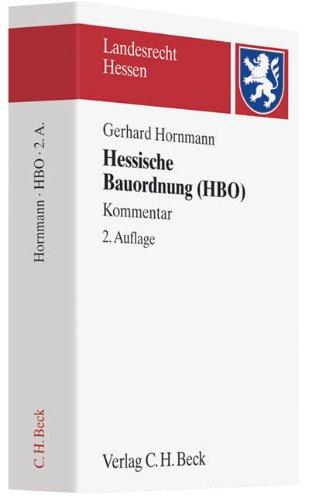 Hessische Bauordnung (HBO): Gerhard Hornmann
