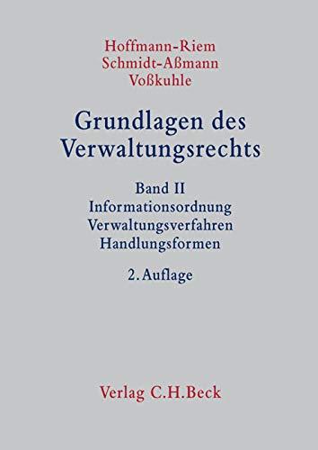9783406620829: Grundlagen des Verwaltungsrechts Band 2: Informationsordnung, Verwaltungsverfahren, Handlungsformen