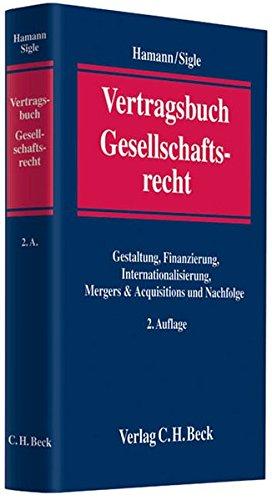 Vertragsbuch Gesellschaftsrecht: Hartmut Hamann