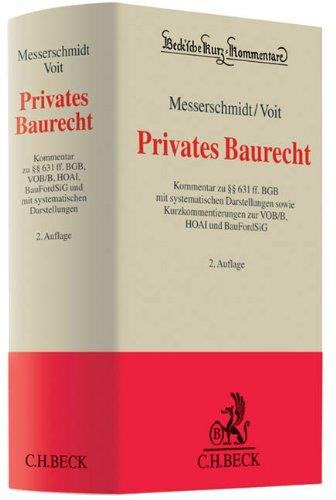 Privates Baurecht: Burkhard Messerschmidt