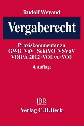 Vergaberecht: Rudolf Weyand