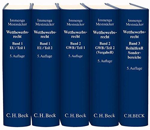 9783406627606: Wettbewerbsrecht. 2 Bände