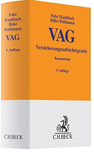 9783406628054: Versicherungsaufsichtsgesetz - VAG