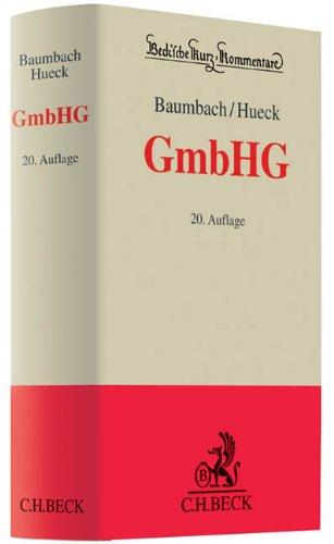 GmbH Gesetz (GmbHG): Adolf Baumbach