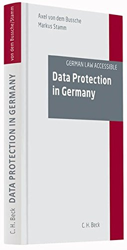 9783406635854: Data Protection in Germany
