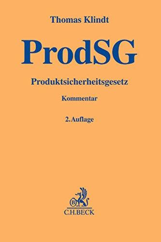 Produktsicherheitsgesetz (ProdSG): Thomas Klindt