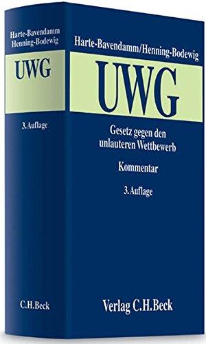 Gesetz gegen den unlauteren Wettbewerb (UWG): Mit Preisangabenverordnung: Henning Harte-Bavendamm