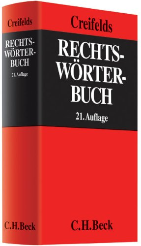 9783406638718: Rechtsw�rterbuch