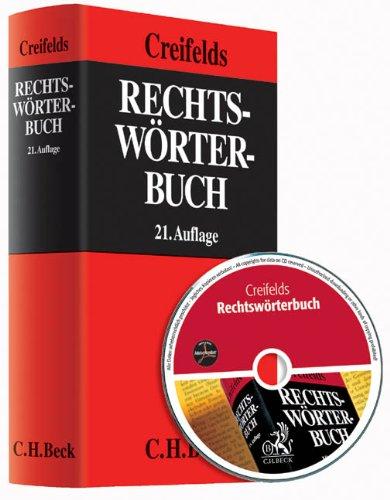 9783406638725: Rechtswörterbuch: Buch und CD-ROM