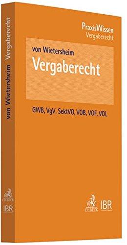 9783406639173: Vergaberecht: VOB/A, VOL/A und VOF