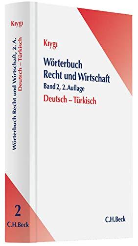 9783406640032: Wörterbuch Recht und Wirtschaft Deutsch-Türkisch