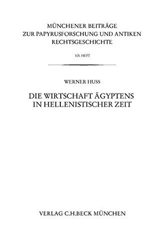 Die Wirtschaft Ägyptens in hellenistischer Zeit: Werner Huß