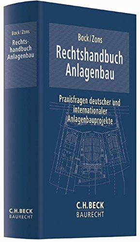Rechtshandbuch Anlagenbau: Yves Bock