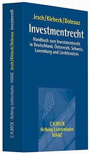 Investmentrecht: Thomas A. Jesch