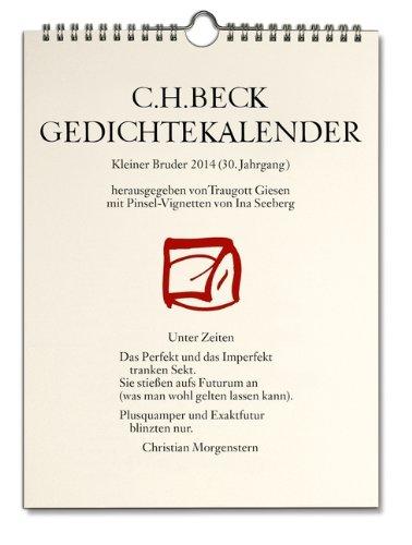9783406650147: Gedichtekalender Kleiner Bruder 2014: 30. Jahrgang