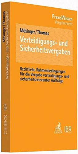 Verteidigungs- und Sicherheitsvergaben: Thomas Mösinger
