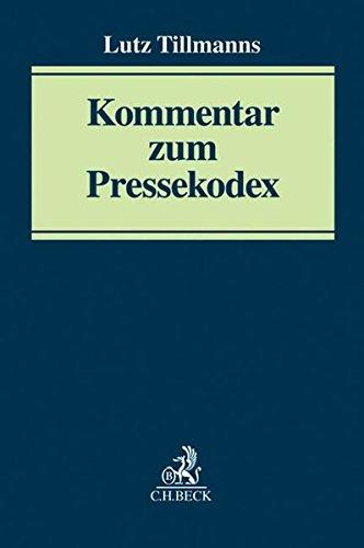 9783406658686: Kommentar zum Pressekodex