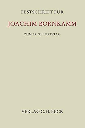 Festschrift für Joachim Bornkamm zum 65. Geburtstag: Wolfgang B�scher