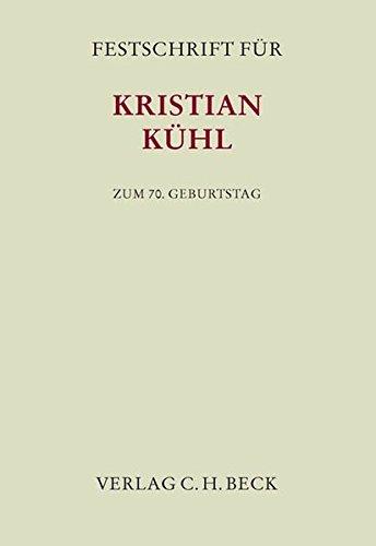 9783406661990: Festschrift für Kristian Kühl zum 70. Geburtstag