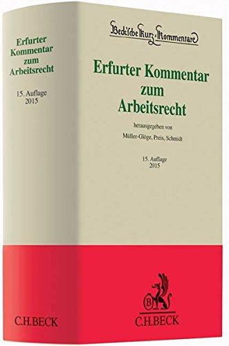 9783406667282: Erfurter Kommentar zum Arbeitsrecht