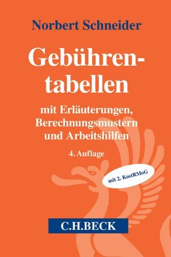 Gebührentabellen: Norbert Schneider