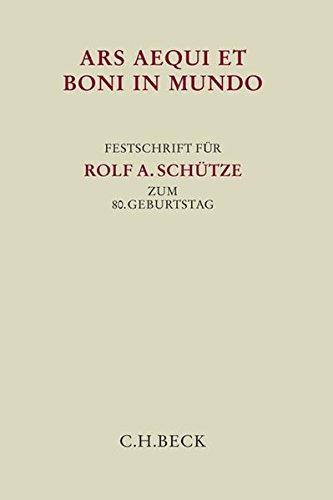 Ars aequi et boni in mundo: Reinhold Geimer