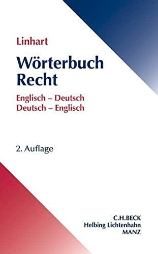 9783406674655: W�rterbuch Recht. Englisch-Deutsch / Deutsch-Englisch