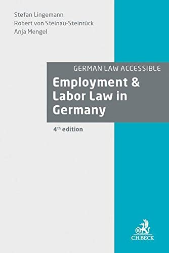 9783406682230: Employment & Labor Law in Germany (German Law Accessible)